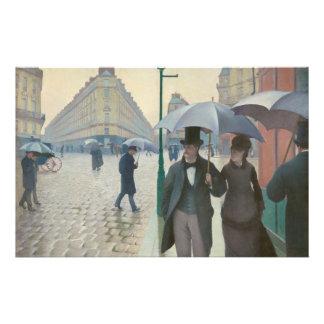 Ruda de París Temps de Pluie de Gustave Caillebott