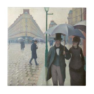 Ruda de París Temps de Pluie de Gustave Caillebott Teja