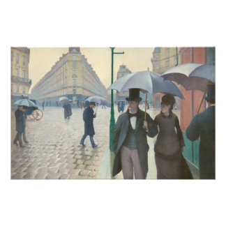 Ruda de París Temps de Pluie de Gustave Caillebott Papelería De Diseño