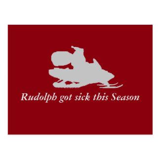 Rudolph consiguió enfermo esta estación postal