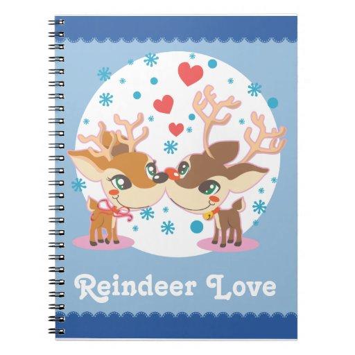Rudolph en amor libros de apuntes