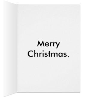 Rudolph en permiso anual tarjeta de felicitación