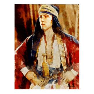 Rudolph Valentino como el jeque Art Postcard Postal