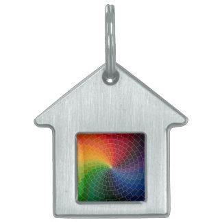 Rueda de color del espectro placa para mascotas