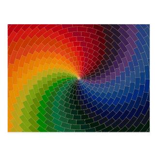 Rueda de color del espectro postal