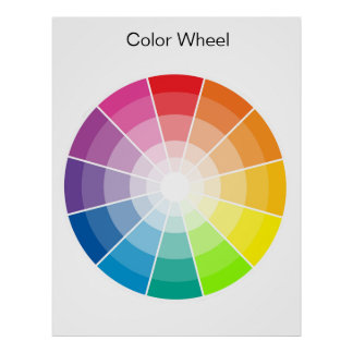 Rueda de color - luz póster