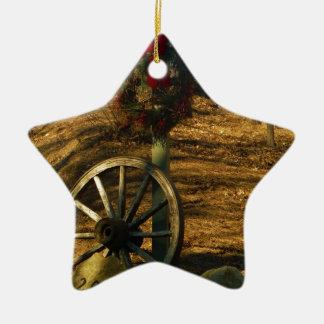 Rueda del navidad guirnalda y de carro adorno de reyes
