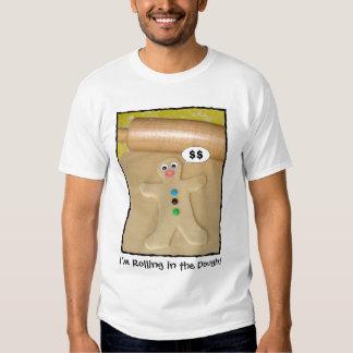 Rueda en la camiseta de los hombres chistosos de