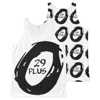 rueda más de la bici del mountsin 29 camiseta de tirantes con estampado integral