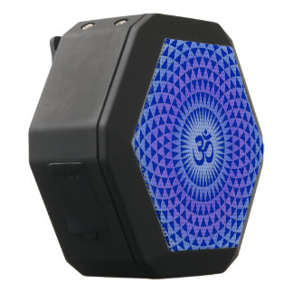 Rueda púrpura OM de la meditación de la flor de Altavoz Con Bluetooth