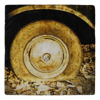 Rueda vieja del vintage del coche clásico #2 salvamanteles