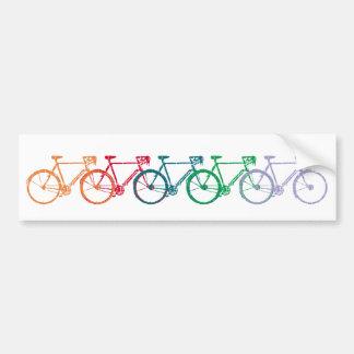 ruedas coincididas coloridas de la bici pegatina para coche