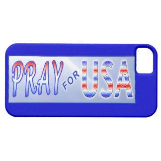 Ruegue para la cubierta patriótica del iPhone 5 de Funda Para iPhone SE/5/5s