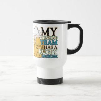 Rugbi de consumición del equipo taza de café
