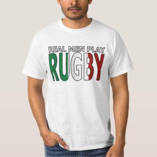 Rugbi real Italia del juego de los hombres Camisetas