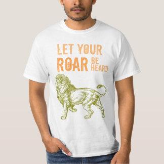¡Rugido! Camisetas