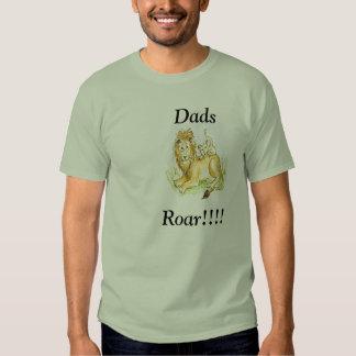 Rugido clásico de los papás de la camiseta