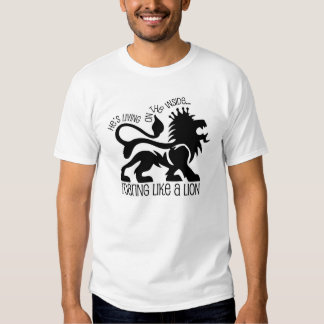Rugido como un león camisetas