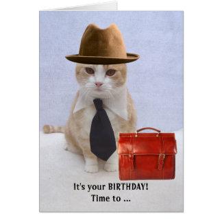 Rugido del cumpleaños tarjeta de felicitación