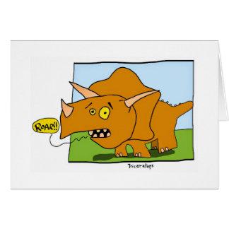 ¡Rugido del dinosaurio! Tarjeta De Felicitación