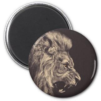 rugido del león del arte del lápiz del león blanco imán