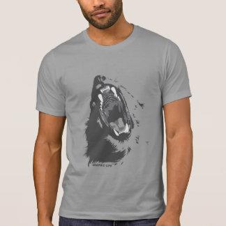 Rugido del león por diseño gráfico de la vida camiseta