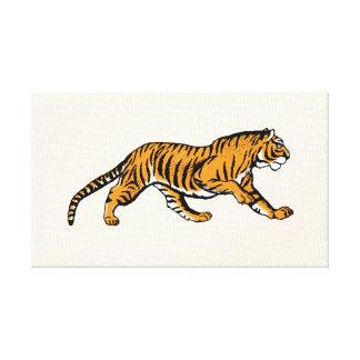 ¡Rugido! ¡Soy un tigre! - arte de la lona del