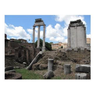 Ruinas antiguas del pilar del templo del ágora postal