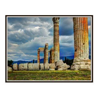 Ruinas antiguas en Atenas Grecia Postal