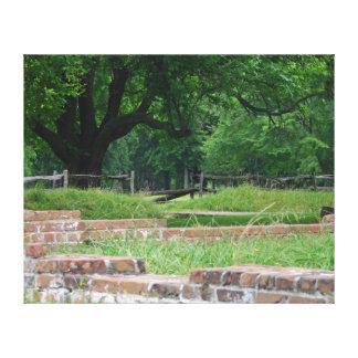 Ruinas del acuerdo de Jamestown Lienzo