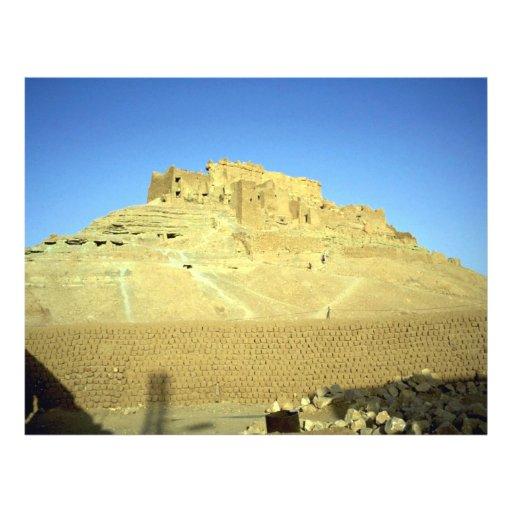 Ruinas del desierto del EL Menia de Ksar del fuert Flyer A Todo Color