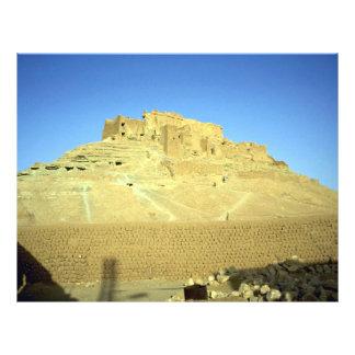 Ruinas del desierto del EL Menia de Ksar del fuert Folleto 21,6 X 28 Cm