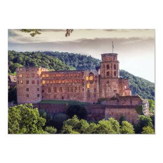 Ruinas famosas del castillo, Heidelberg, Alemania Invitación 12,7 X 17,8 Cm