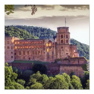 Ruinas famosas del castillo, Heidelberg, Alemania Invitación 13,3 Cm X 13,3cm