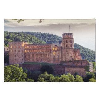 Ruinas famosas del castillo, Heidelberg, Alemania Salvamanteles