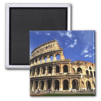 Ruinas famosas del coliseo en Roma Italia Imán De Frigorifico