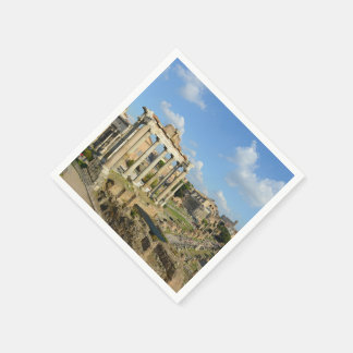 Ruinas romanas en Roma Italia Servilleta Desechable