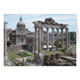 Ruinas romanas tarjeta