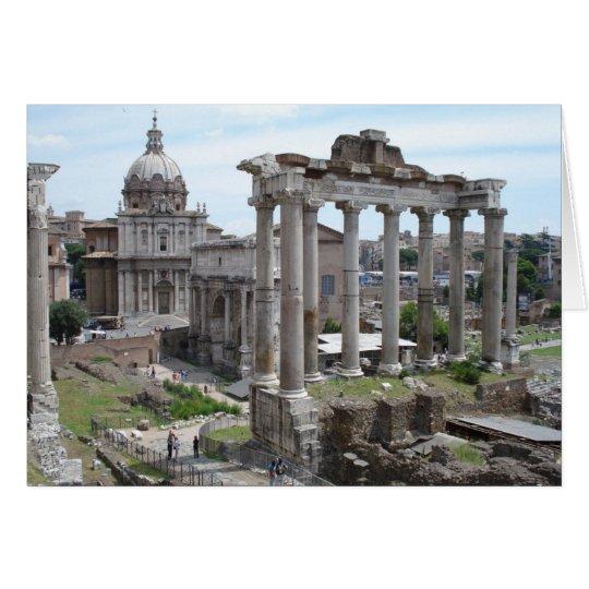 Ruinas romanas tarjeta pequeña