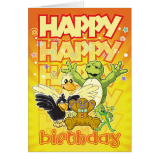 Ruman y tarjeta del feliz cumpleaños de Rupert