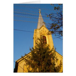 Rumania, iglesia local tarjeta de felicitación