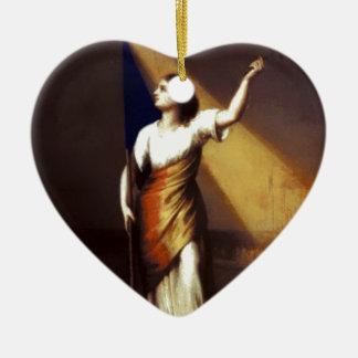 Rumania que interrumpe sus cadenas en el campo adorno de cerámica en forma de corazón