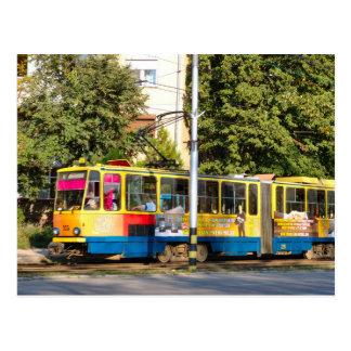 Rumania, tranvías en ciudad postal