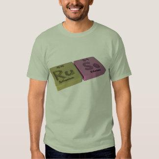 Ruse como el rutenio del Ru y selenio del SE Camiseta