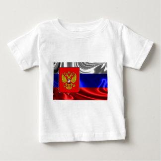 Rusia-Bandera #4 Camiseta De Bebé