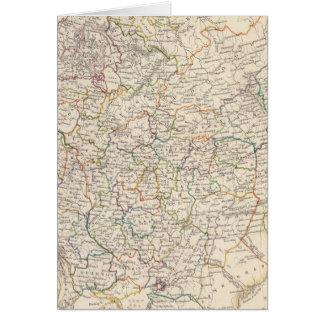 Rusia en el mapa general de Europa Tarjeta De Felicitación