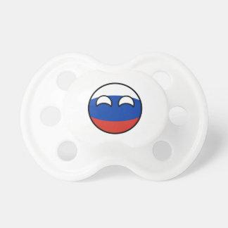 Rusia Geeky que tiende divertida Countryball Chupete