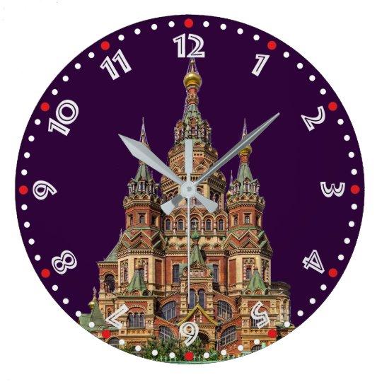 Rusia - Russia Wanduhr Reloj Redondo Grande