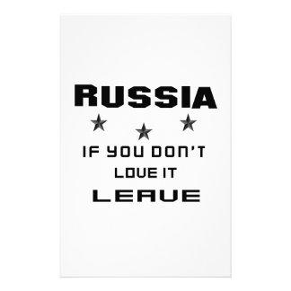 Rusia si usted no la ama, se va papelería