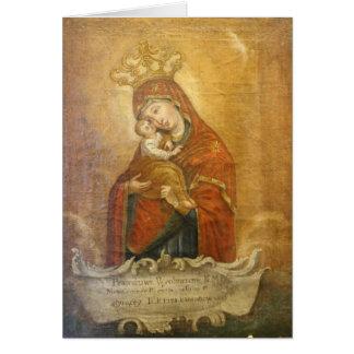 Ruso santo de la tarjeta del icono de Maria